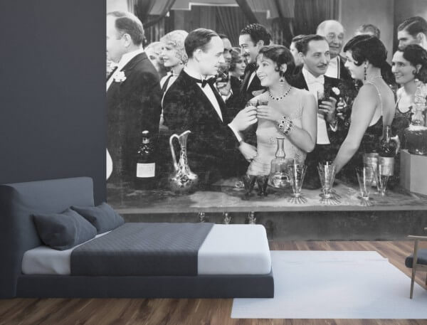 Vlies Tapete XXL Poster Fototapete Retro Vintage Cocktailbar