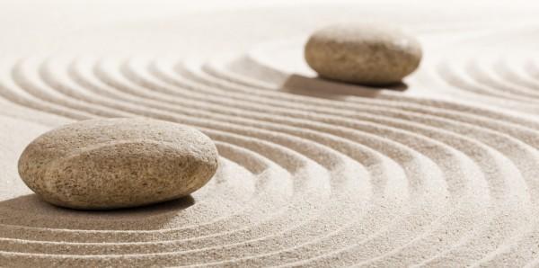 Magnettafel Pinnwand Bild XXL Panorama Steine Zen Sand