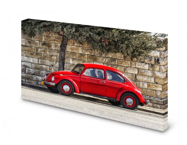 Magnettafel Pinnwand Bild Käfer Auto rot XXL gekantet