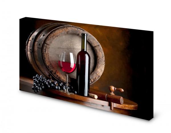 Magnettafel Pinnwand Bild Wein Weinfass Weintrauben gekantet