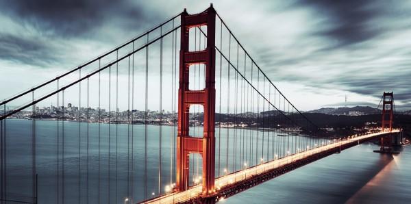 Magnettafel Pinnwand XXL Magnetbild Golden Gate Bridge