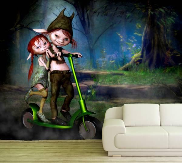 Poster Fototapete Fantasy Trolle Kinder