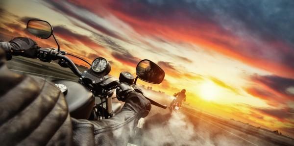 Magnettafel Pinnwand Bild XXL Panorama Bike Motorrad Roadtrip