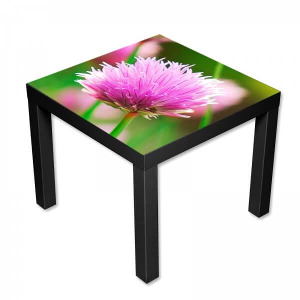 Beistelltisch Couchtisch mit Motiv Blumen rosa Sommerblume