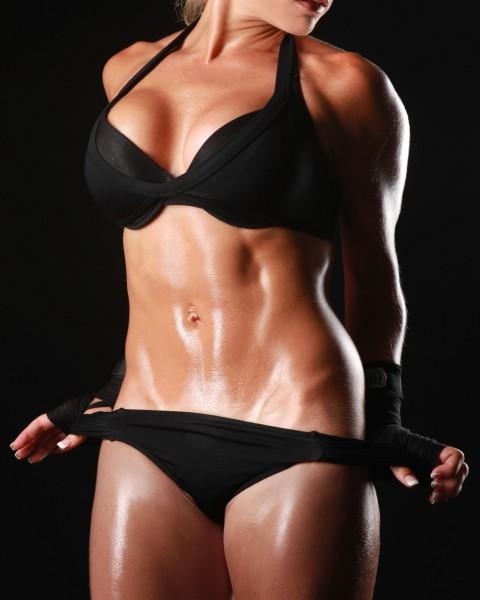 Vlies Tapete XXL Poster Fototapete Sport Fitness Frau sexy Body