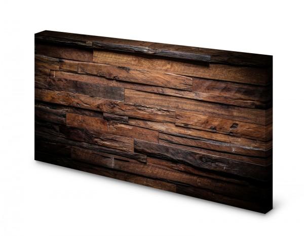 Magnettafel Pinnwand Bild Holz Holzoptik dunkel rustikal