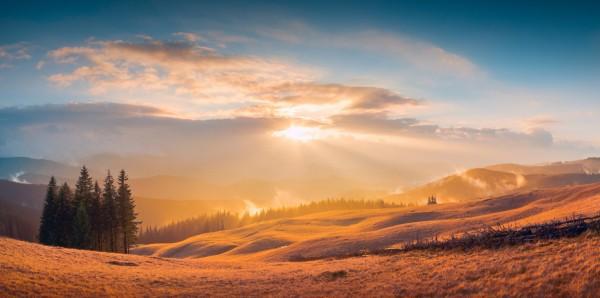 Magnettafel Pinnwand Bild Panorama Berge Karpaten Landschaft