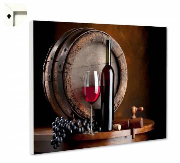 Magnettafel Pinnwand Küche Rotwein Fass