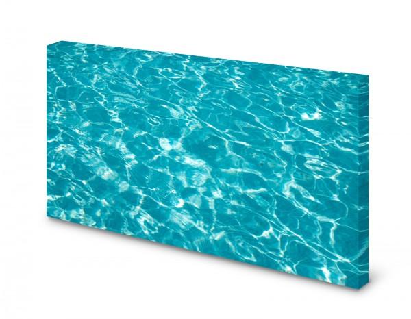 Magnettafel Pinnwand Bild Wasser Pool Poolwassser türkis