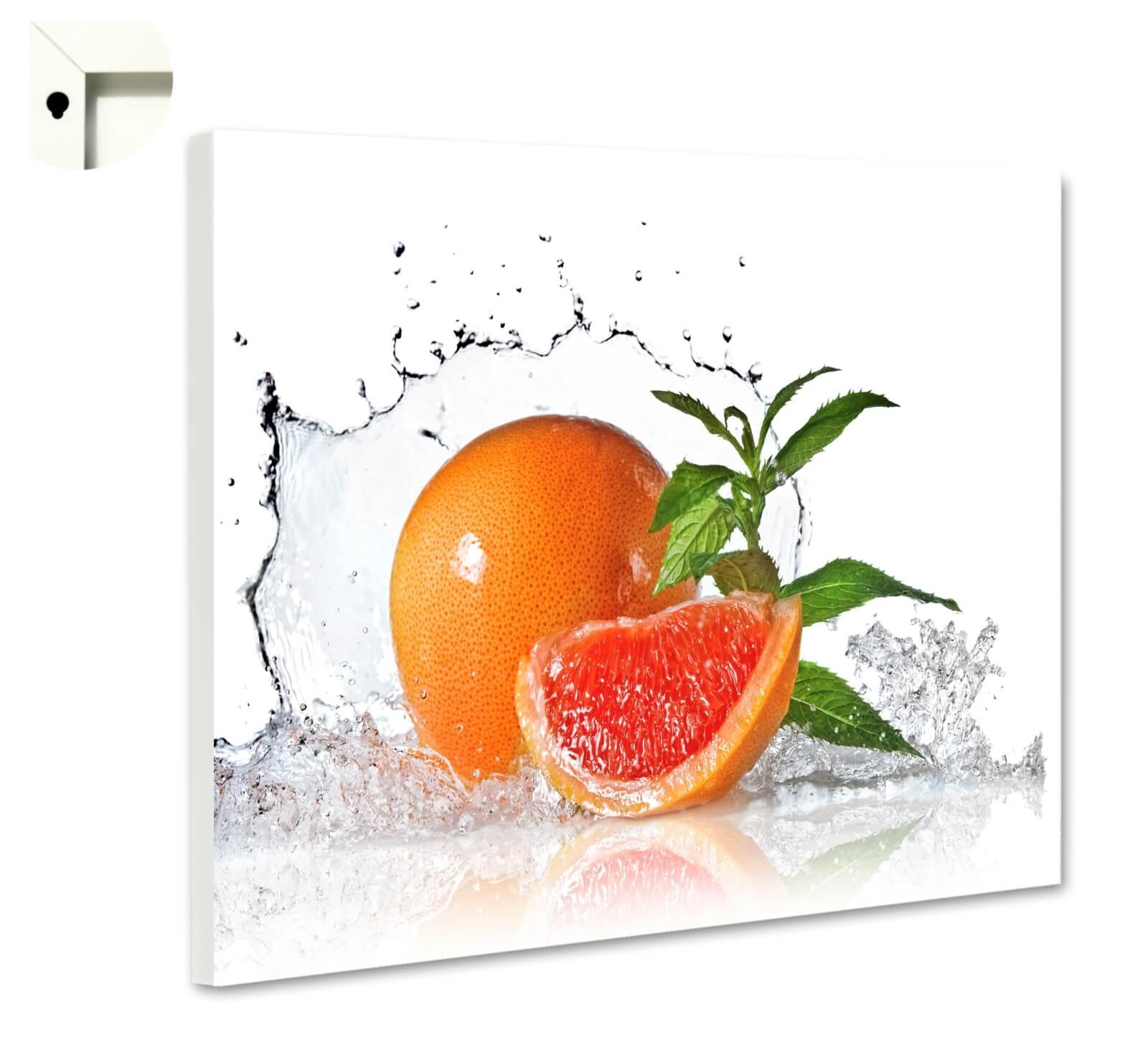 Magnettafel Pinnwand mit Motiv Küche frische Pampelmuse