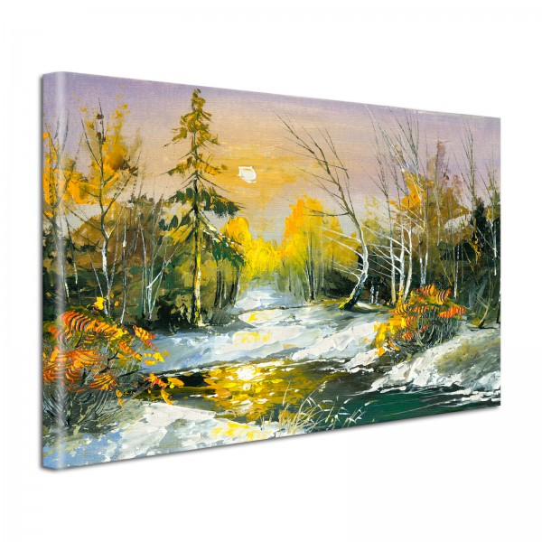 Leinwandbild Gemälde Landschaft 2