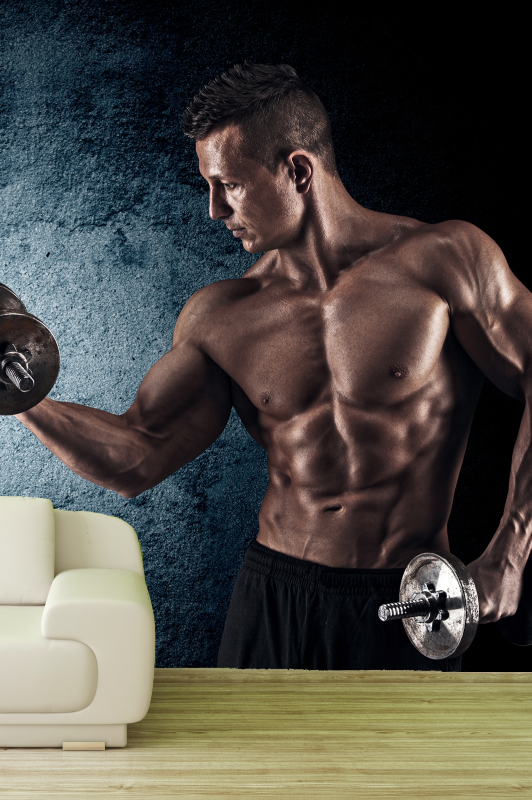 Vlies Tapete XXL Poster Fototapete Sport Fitness Sixpack