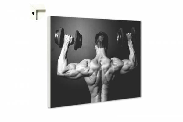 Magnettafel Pinnwand Fitness Bodybuilding