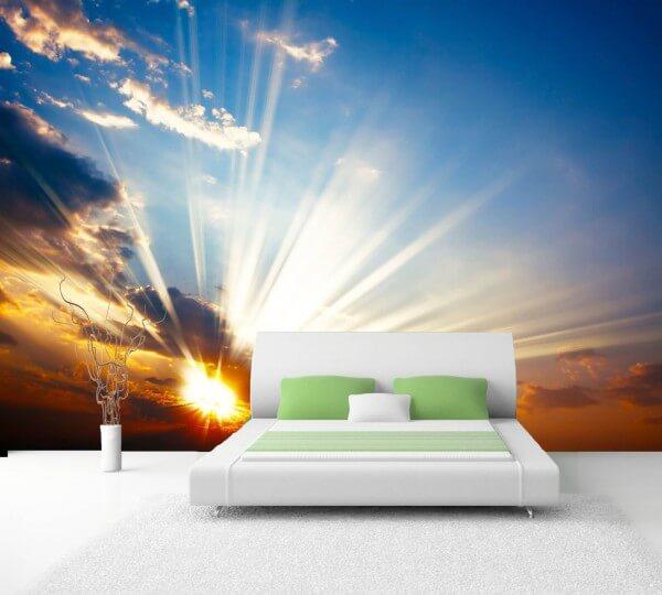Vlies XXL-Poster Tapete Fototapete Natur Sonne im Himmel