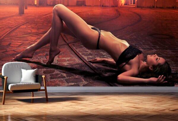 Vlies Tapete XXL Poster Fototapete Panorama Erotik Model Industrial Style