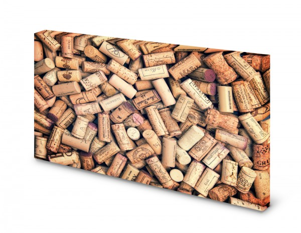 Magnettafel Pinnwand Bild Korken Weinkorken Wein XXL gekantet