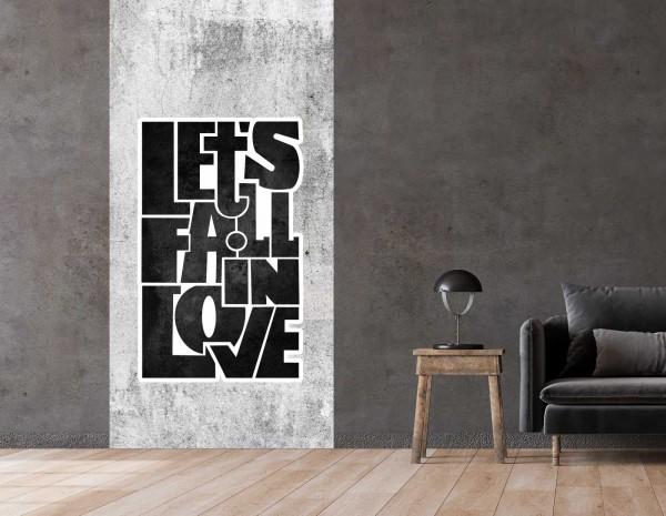 Vlies Tapete Betonoptik Poster Fototapete Tribal Spruch Love