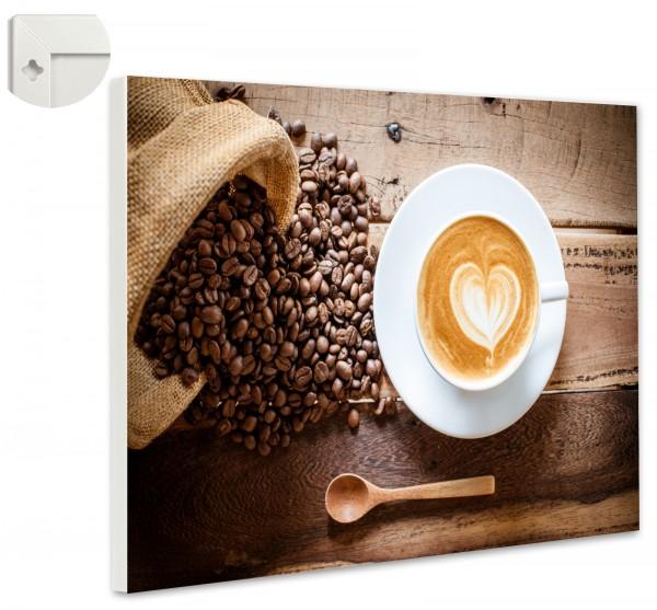 Magnettafel Pinnwand Magnetwand Cappuccino Kaffee Milchschaum
