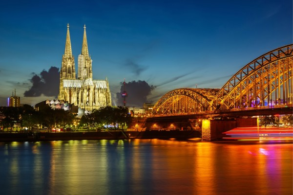 Magnettafel Pinnwand XXL Bild Köln Dom Skyline