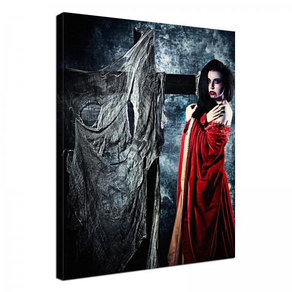 Leinwand Bild edel Gothic black Vampir