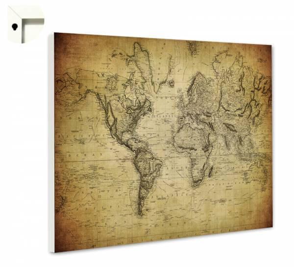 Magnettafel Pinnwand Weltkarte Antik