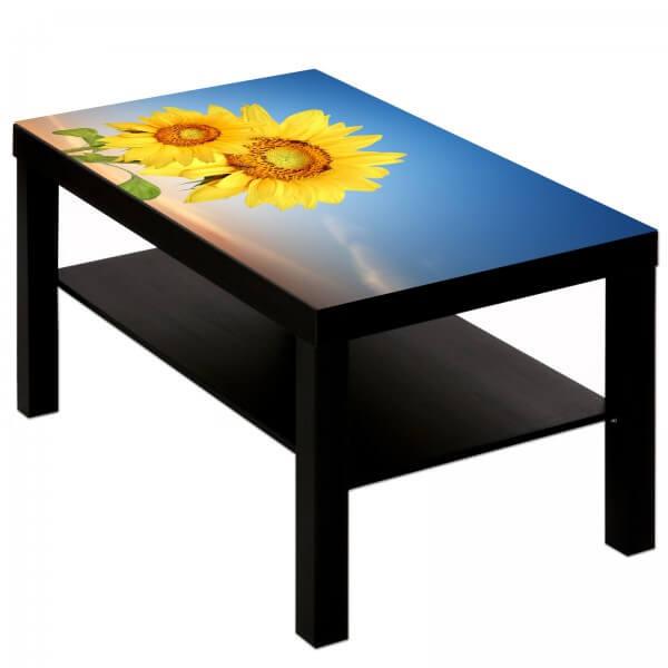 Couchtisch mit Motiv Natur & Blumen Sonnenblumen im Sommerhimmel