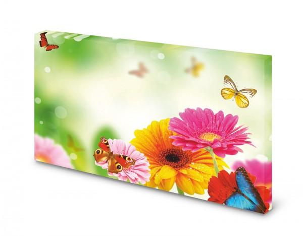 Magnettafel Pinnwand Bild Blumen Schmetterling gekantet XXL