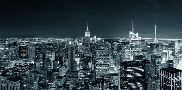 Magnettafel Pinnwand Bild XXL Panorama New York City Skyline