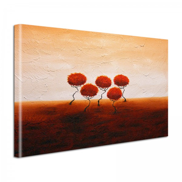 Leinwandbild Gemälde Bäume
