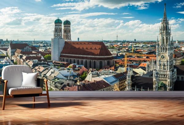 Vlies Tapete XXL Poster Fototapete München Bayern Frauenkirche