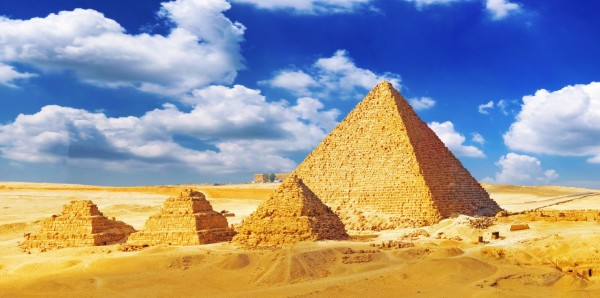Magnettafel Pinnwand Bild XXL Panorama Pyramiden Wüste