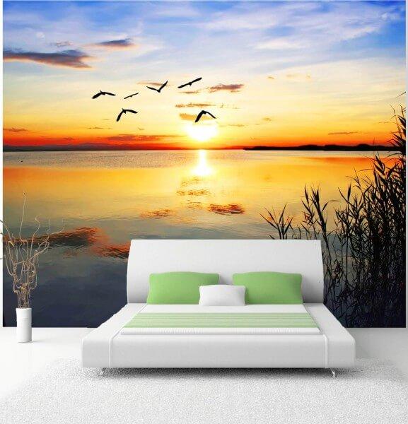 Vlies XXL-Poster Tapete Fototapete Natur Sonnenuntergang