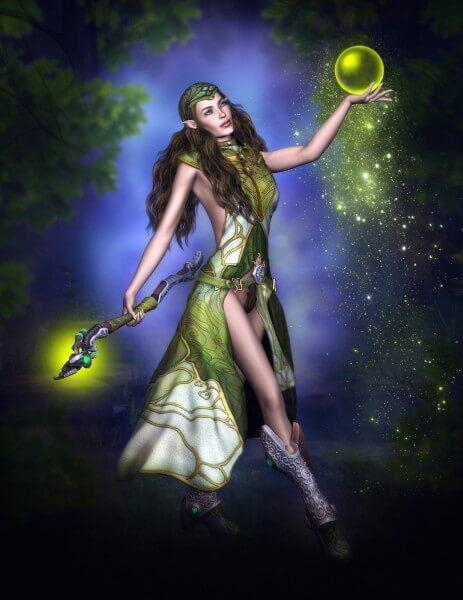 Poster Fototapete Fantasy Zauberelfe