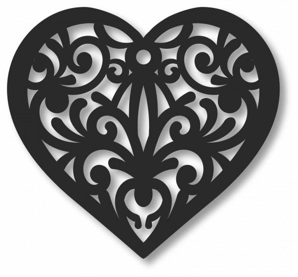 Bild Wandbild 3D Wandtattoo Acryl Mobile Herz Love Muster