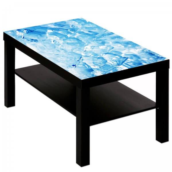 Couchtisch Tisch mit Motiv Bild Eis Würfel 1