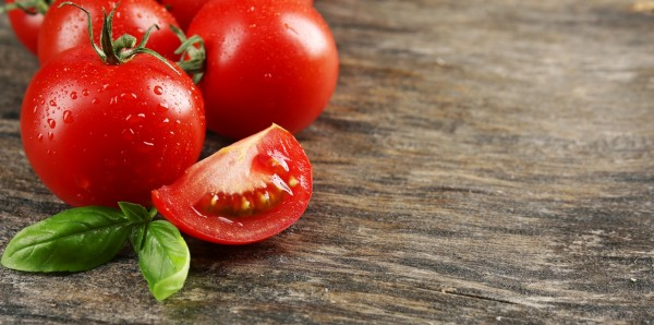 Magnettafel Pinnwand Bild Panorama Küche Tomate Holzoptik