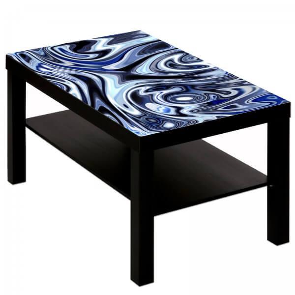 Couchtisch mit Motiv blaue Wellen