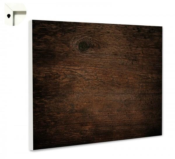 Magnettafel Pinnwand Holz Muster dunkel