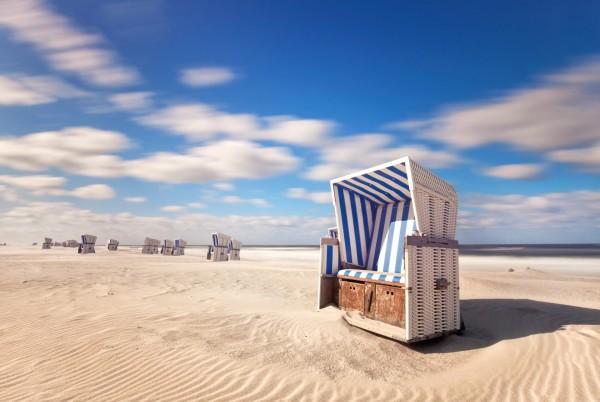 Magnettafel Pinnwand XXL Bild Strand Meer Strandkorb