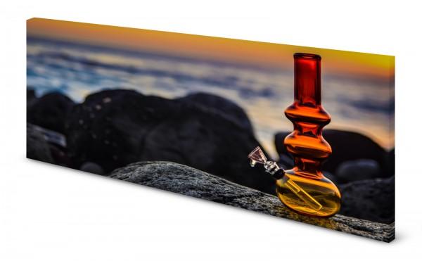 Magnettafel Pinnwand Bild Bong Glasbong Wasserspfeife gekantet