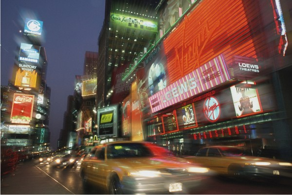 Magnettafel Pinnwand XXL Magnetbild New York Time Square