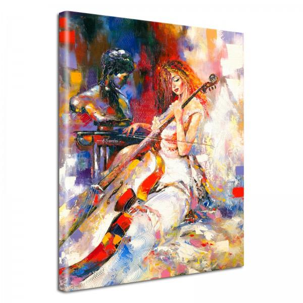 Leinwandbild Gemälde Cello