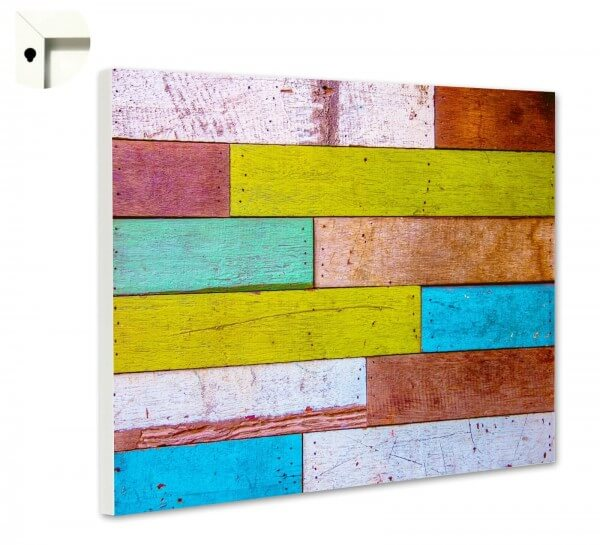 Magnettafel Pinnwand Muster Holz bunt