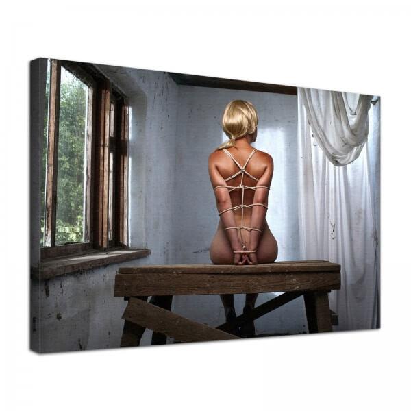 Leinwand Bild Erotik Bondage Dungeon