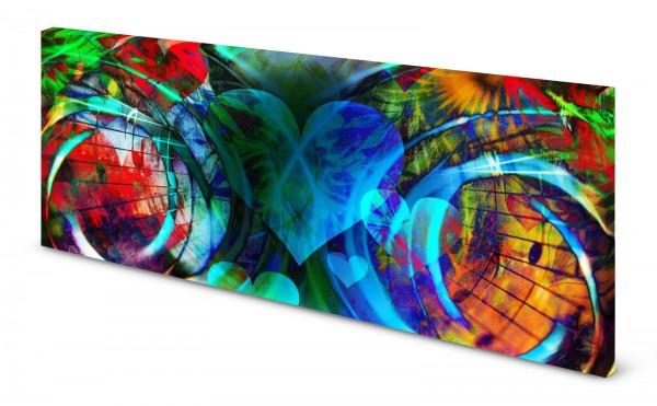 Magnettafel Pinnwand Bild Abstrakt Farben bunt gekantet