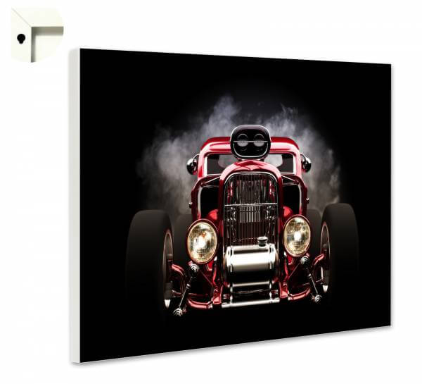 Magnettafel Pinnwand mit Motiv Auto Mobil Oldtimer in rot