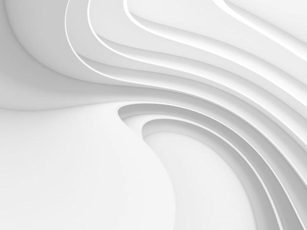 Vlies Tapete Poster Fototapete 3D Effekt Muster Weiss Wellen