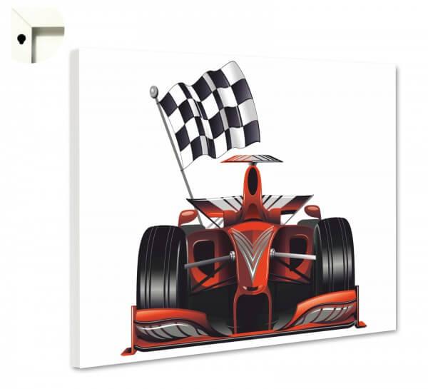 Magnettafel Pinnwand Kinder Jungs Rennauto Formel 1