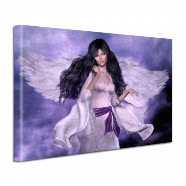 Leinwand Bild edel Fantasy Angel lila
