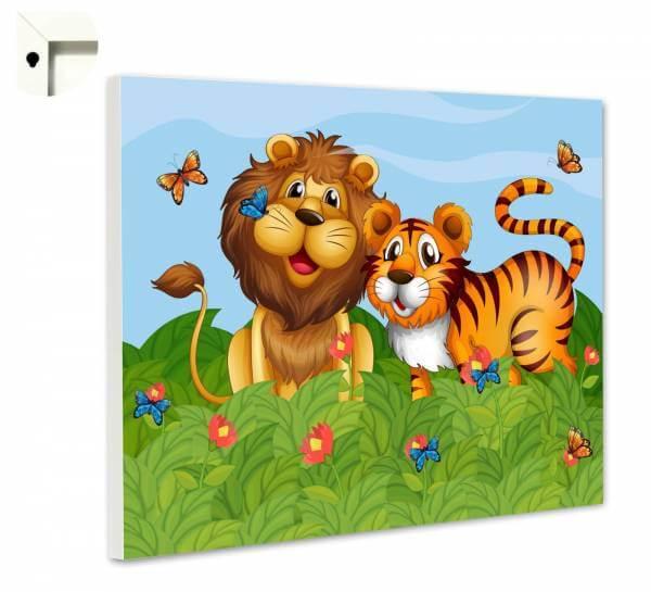 Magnettafel Pinnwand Kinder Löwe & Tiger